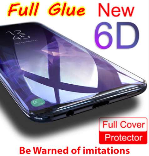 6D Samsung Galaxy S9+ S8 Plus Note 8/9 Tempered Glass Full Glue Screen Protector 2