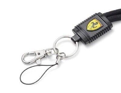 LANYARD Scuderia Ferrari Black NeckStrap KeyClip Ticketholder Formula One F1 NEW 2