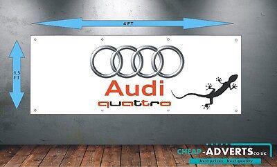 garage Audi rs logo workshop office or showroom pvc banner