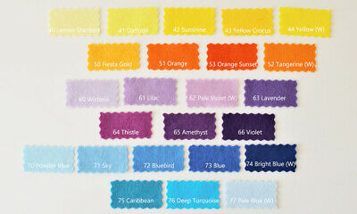 "Craft Felt | Wool Mix and Soft Washable | 60+ Colours | 9""/22cm Square Sheets 3"