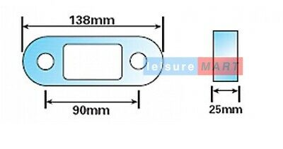 "1 inch 1""  tow ball spacer towing towbar 2"