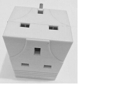 3 WAY PLUG Adaptor 13 Amp Extension Electronics Multi Socket Plug ...