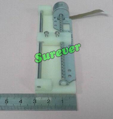 DC 4V-5V CD-ROM Stepper Motor 74mm Linear Screw 2- phase 4-wire Slider Block 5