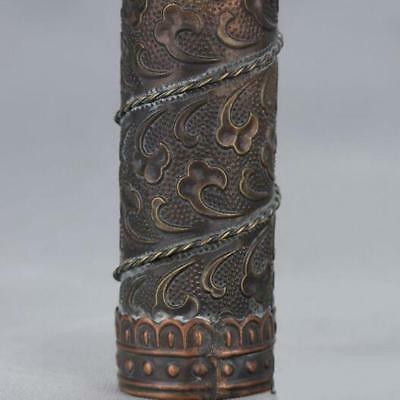 Chinese-antique-carved-flower-and-old-brass-kaleidoscope-High-grade-collectible 10