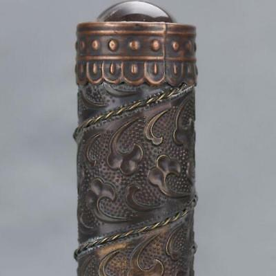 Chinese-antique-carved-flower-and-old-brass-kaleidoscope-High-grade-collectible 2
