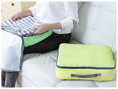 b270c498dc531 ... Reise Wäschebeutel 4er Set Wäschesack Koffertaschen Grün Gelb Blau Pink  4