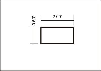 """2 Pieces 1/2"""" X 2"""" ALUMINUM 6061 FLAT BAR 12"""" T6511 2"""