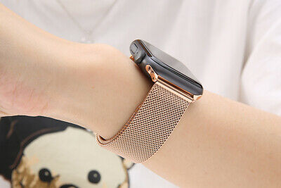 【Apple watch】Series 5 4 3 2 1 Milanese Magnetic Stainless Loop Strap Band iwatch 9