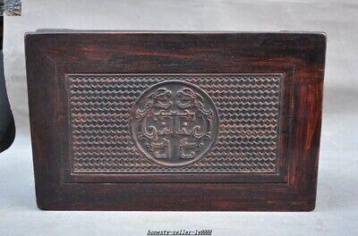 China Huanghuali wood carve Dragon beast Classical Furniture Side Table Tea Desk 8