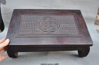China Huanghuali wood carve Dragon beast Classical Furniture Side Table Tea Desk 7