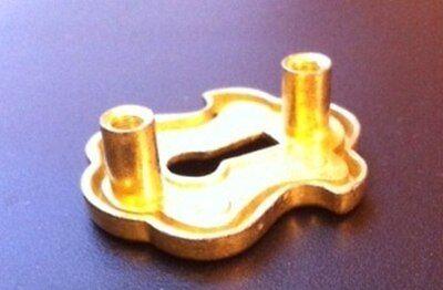 Keyhole Escutcheon Plate Satin Brass, Hrt-892 2