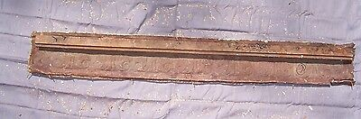 "Antique Metal Tin Ceiling Tile Crown Molding 48 3/4"" Long Reclaim Salvage"