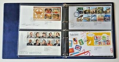 Kestrel First Day Cover Album with 20 double sided leaves to hold 80 covers 5