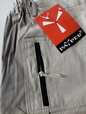 Pantalone Uomo Kaki Tg.xl Tasche/tascone 100% Cotone Pantaloni 4 Stagioni Payper