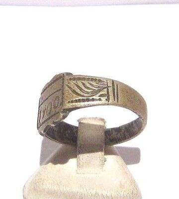 MARVELOUS TOP QUALITY BRONZE ANTIQUE 1900's PERSONAL RING,YEAR INSCRIBED # 698 3