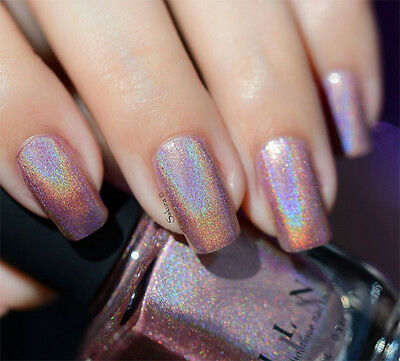 3 Of 4 Ilnp Flower Vintage Pink Holographic Nail Polish