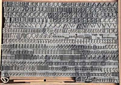 Bleischrift 10,5 mm Bleisatz Buchdruck Alphabet Handsatz Bleilettern Typographie 2