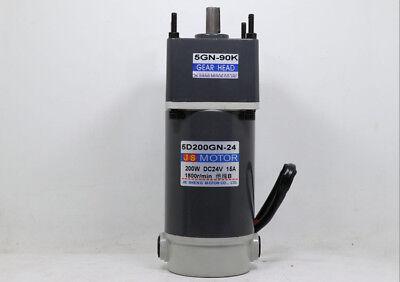 New Gear Motor Worm Gear Gearbox Worm Gear Reducer RV Motor DC 12V/24V 15-300W 5