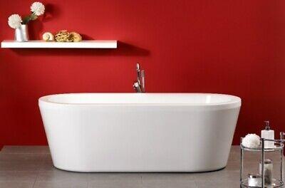OTTOFOND CARNEY 190x90cm freistehende Badewanne mit Klick Klack Ablauf Ovalwanne