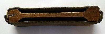 Rasiermesser Schleifband/Streichriemen aus Leder und Holz von 1912 2