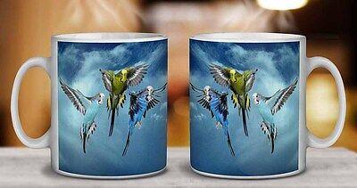 AB-PE76MG Colourful Peacock Coffee//Tea Mug Christmas Stocking Filler Gift Idea