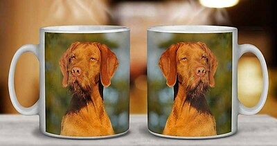 AD-HWV1PW Hungarian Vizsla Wirehaired Dog Glass Paperweight in Gift Box Christm