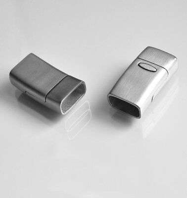 5 Silber Magnetverschluss Rechteck Kettenverschluss für Kette 4.2x1.9cm