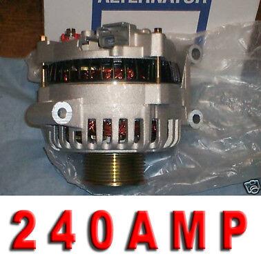 2003 2004 2005 Ford F Super Duty Pickup Excursion 240 High AMP ALTERNATOR 6.0L 2