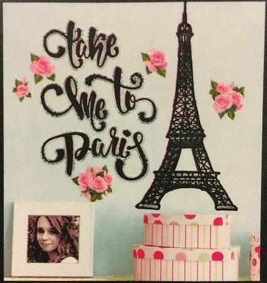 1 Of 2FREE Shipping TAKE ME TO PARIS Wall Stickers 11 Decals Wall Decor  EIFFEL TOWER Flowers