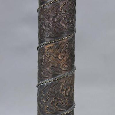 Chinese-antique-carved-flower-and-old-brass-kaleidoscope-High-grade-collectible 4