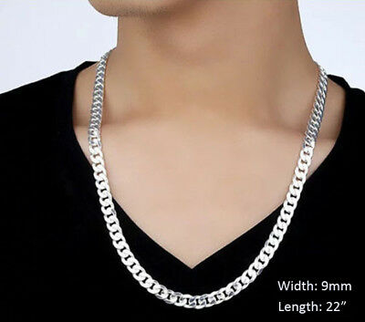 2-12mm Men's Stainless Steel Silver 316L Curb Link Chain Chunky Necklace 4