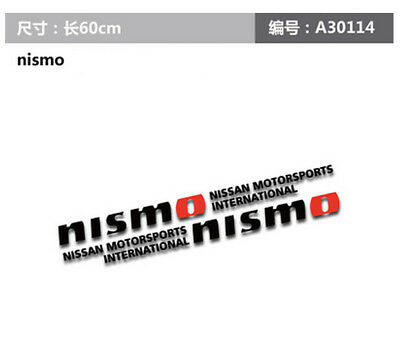 """A Pair Luxury Black Nismo Motorsports Car Door Stickers Side Decal For 23.62/"""""""