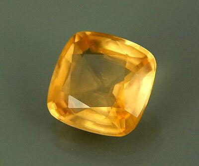 TOP CALCITE : 4,47 Ct Natürlicher Gelber Calcit / Kalzit VVS ( Limespar )