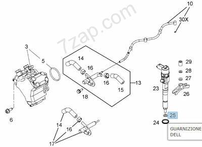 X4 Iniettore Anello Guarnizione Per Peugeot Bipper 1.3 10 /> su DIESEL AA F13DTE5 75 Elring