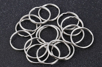 200Pcs Key Rings Chains Split Ring Hoop Metal Loop Steel Accessories 25mm LoT 5