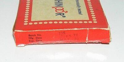 "Vintage INDIEN 1978 KONDOM ""KOHINOOR"" 4 Stück / Vintage INDIA 1978 4pcs CONDOM 3"