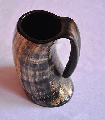 Viking Bar Mug Genuine Viking Drinking Horn Mug Tankard 20-24 Ounces 6