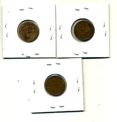 1950 P,d,s Wheat Pennies Lincoln Cents Circulated 2X2 Flips 3 Coin Pds Set#4481 2