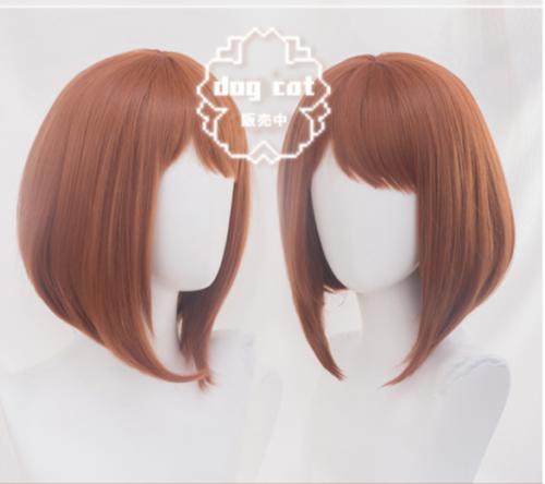 Anime My Hero Academia Ochako Uraraka Zentai Tight Bodysuit Cosplay Costume+Wig
