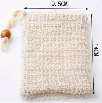 Eco Friendly Natural Sisal Wash Soap Bag Exfoliate Reusable Plastic-Free Shower 2