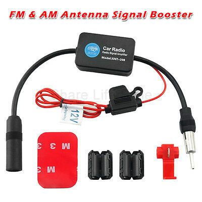Auto Car Antenna Radio Signal AMP Amplifier Booster Strengthen ANT-208 25db 12V 2