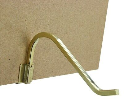2 x GALLERY 125mm BRASS CURL UP & STAND SQUARE WIRE PICTURE FRAME PHOTO CLIP ON 5