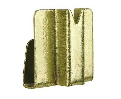 1 x GALLERY 125mm BRASS CURL UP & STAND SQUARE WIRE PICTURE FRAME PHOTO CLIP ON 4