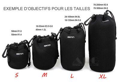 Sac Etui Souple Professionnel Pour Objectifs Nikon Canon Pentax Sony 2