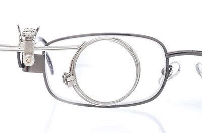 7.5X Double Clip-On Glass Lens Nickle Eyeglass Eye Loupe Magnifier SE MI128-7.5