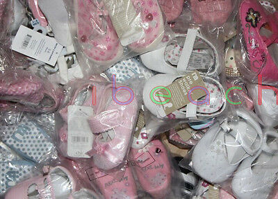 Wholesale Infant Baby Boy Girl First Crib Shoes Job Lots Newborn to 18 Months 4