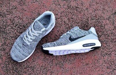 Nike Air Max Modern Flyknit Black White Wolf Grey Uk Size 7 EUR 41 876066 001 . EUR 101,34