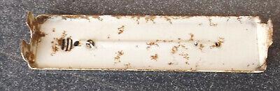 Antiguo Vintage Thermometerhalter Linde Refrigeración Metal / Esmalte Sin 4