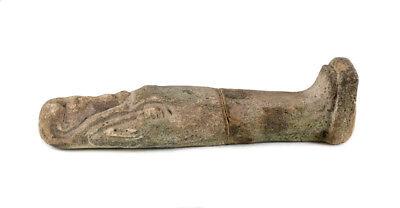 Archaic Egyptian Faience Pottery Shabti figure, Late Period?  Green 2