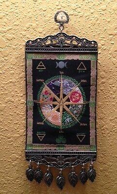 Pagan Calendar.Pagan Calendar Wheel Of The Year Mini Turkish Carpet Wall Hanging